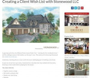 Midwest Home Features Stonewood