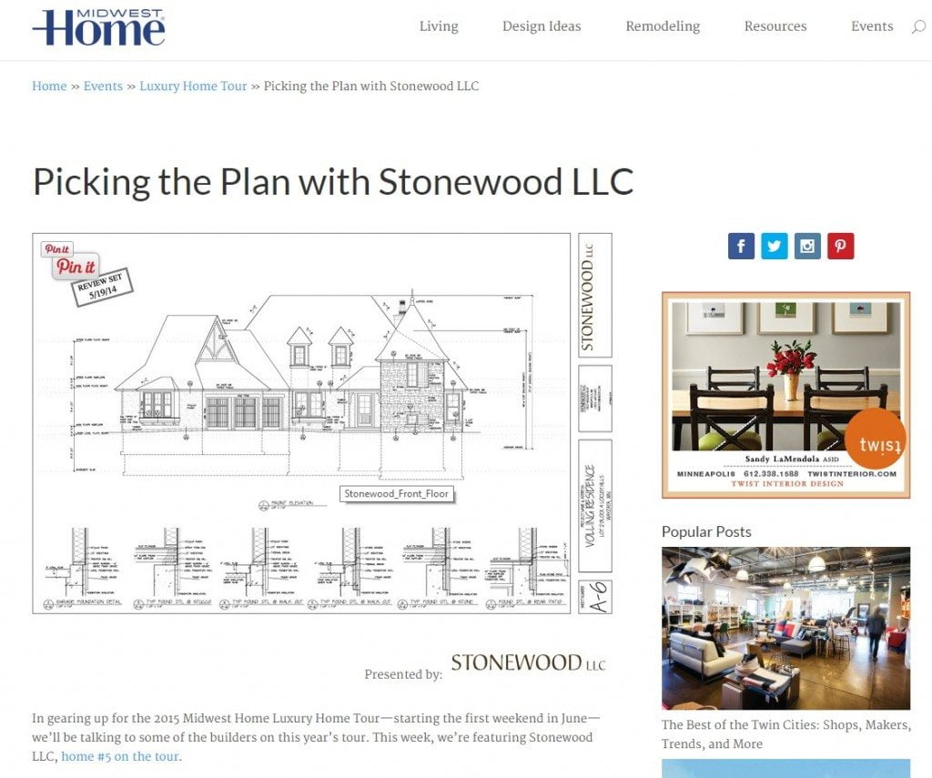 Midwest Home Feature Part 2 Stonewood Minneapolis