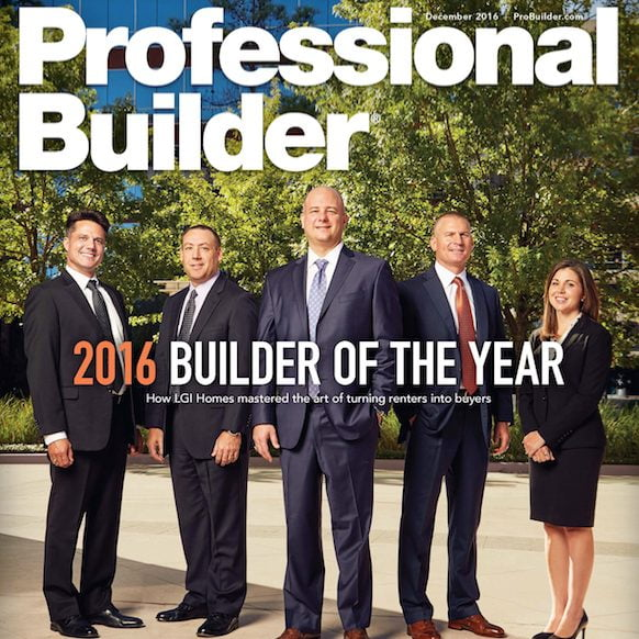 Professional Builder Magazine Features Stonewood