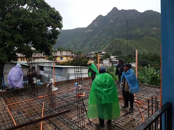 Building a school in Guatemala