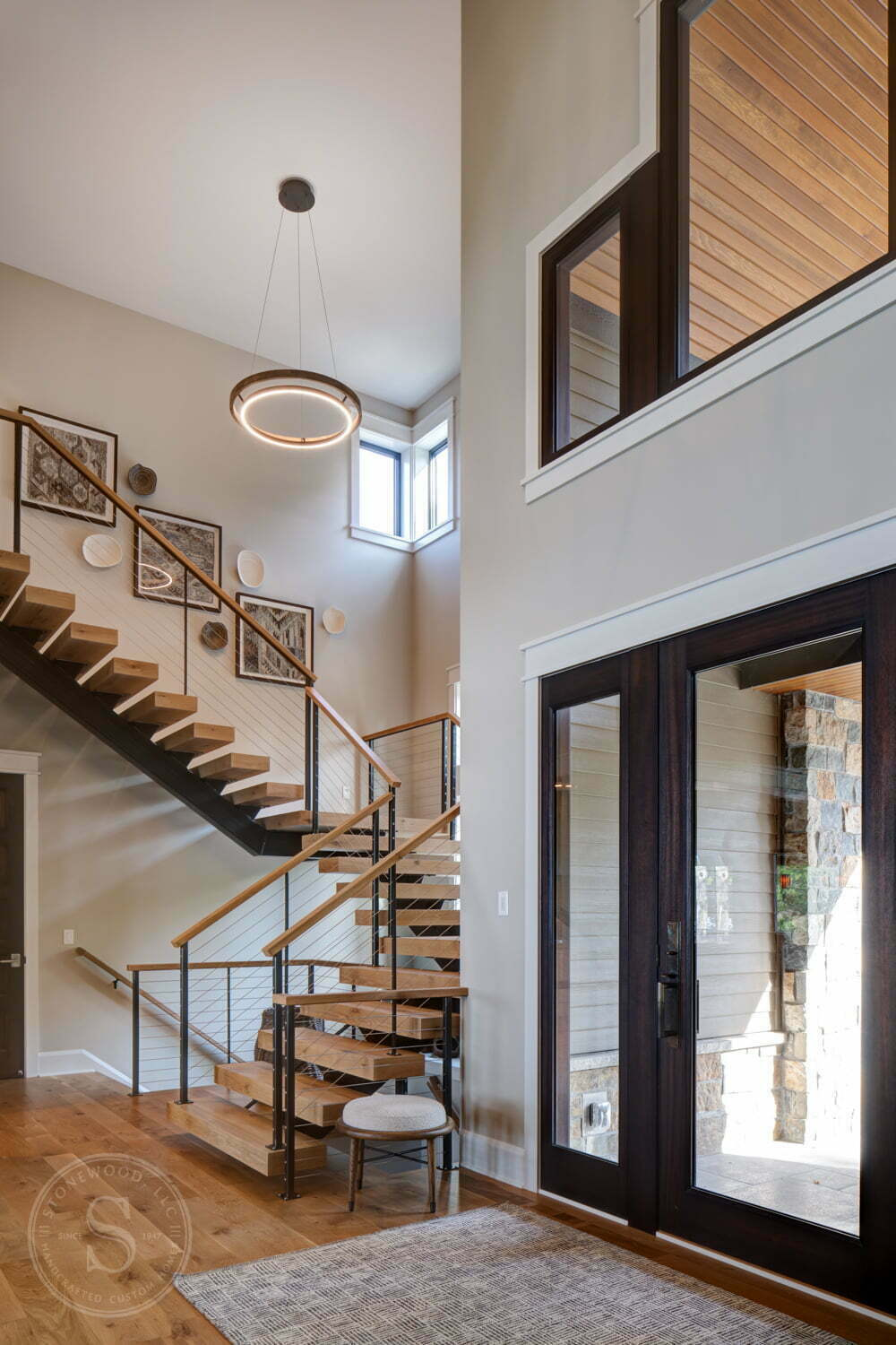 Staircase by Stonewood Handcrafted Custom Homes